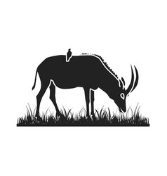 african antelope silhouette vector image