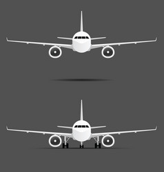airplane with two motors set vector image