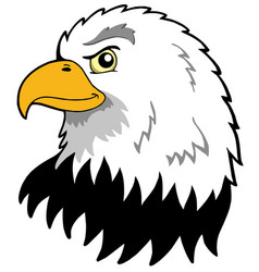 American eagles head vector