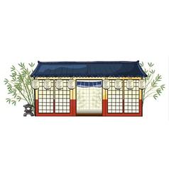 an asian house vector image