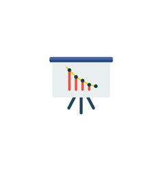 analytics icon flat element vector image
