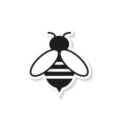 bee sticker icon vector image