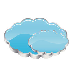blue cound data network icon vector image