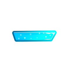 Blue user interface tag in cartoon style vector