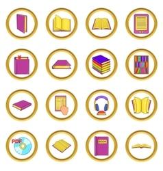 Books set cartoon style vector