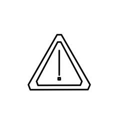 car warning icon vector image
