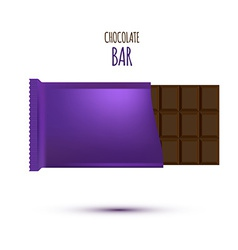 Chocolate Bar isolated on white background vector