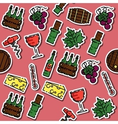 Colored wine pattern vector