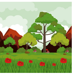 Colorful background with landscape of rocky vector