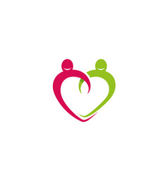 creative abstract heart symbol body logo vector image
