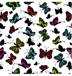 cute multi colored butterfly on a white background vector image