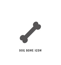 dog bone icon simple flat style vector image