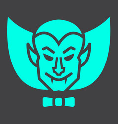 dracula vampire glyph icon halloween and scary vector image