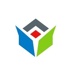 Drop box abstract color logo vector