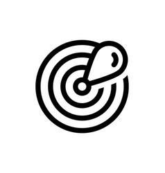 drop radar logo design simple signal radar sign vector image