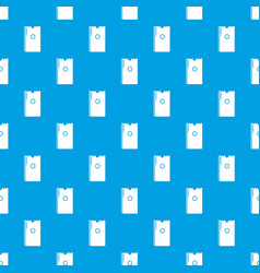 Dry napkins pack pattern seamless blue vector