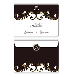 Elegant horizontal vip envelope it is executed in vector