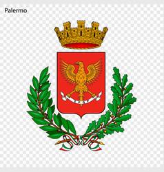 Emblem of palermo vector
