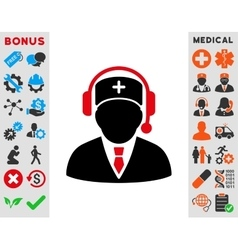 Emergency Manager Icon vector