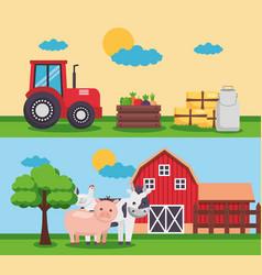 farm fresh cartoon vector image