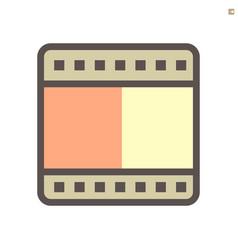 film reel icon design on white 48x48 pixel vector image