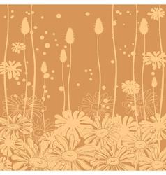 Floral background monochrome vector