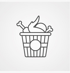 fried chicken icon sign symbol vector image