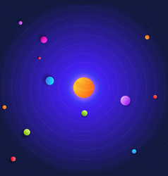 Galaxy space solar system with sun and vector