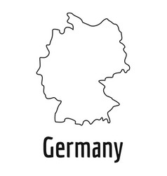 Germany map thin line simple vector