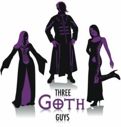Goth silhouettes vector image