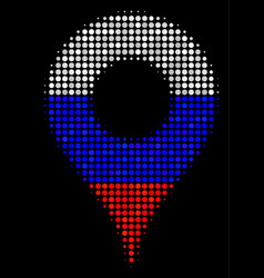 halftone russian map pointer icon vector image