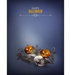 Halloween night scene vector