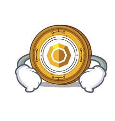 Hand on waist komodo coin character cartoon vector