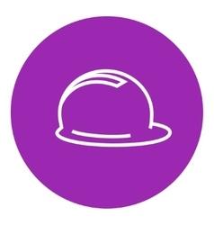 Hard hat line icon vector