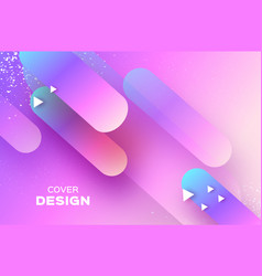 holographic geometry background layered shapes vector image