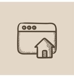 Homepage sketch icon vector image