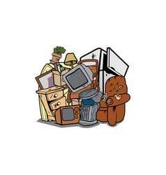 House junk cartoon vector