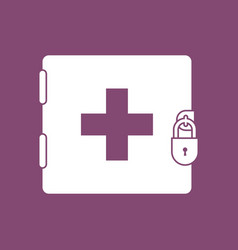 Icon first aid kit on lock vector