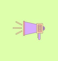 in flat style loudspeaker vector image