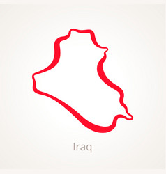 Iraq - outline map vector