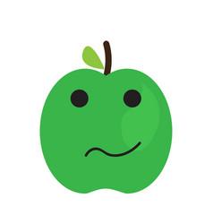 isolated sad apple emote vector image