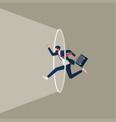 Leaving your comfort zone to success concept vector