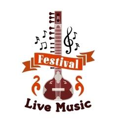 Live folk ethnic music festival emblem vector