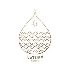 Logo drop nature vector
