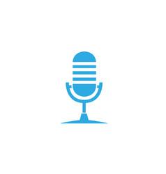 Microphone and karaoke symbol logo design vector