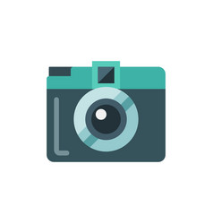 Mini camera flat isolated icon vector