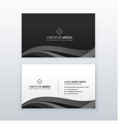 modern professional dark business card design vector image
