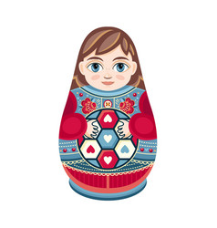 Moscow matreshka boy vector