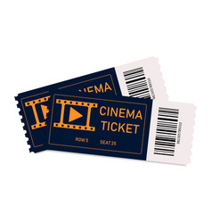 movie tickets two tickets in cinema or theater vector image