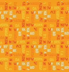 New york pattern seamless design vector